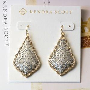 Kendra Scott Addie Silver /Gold Drop Earrings new